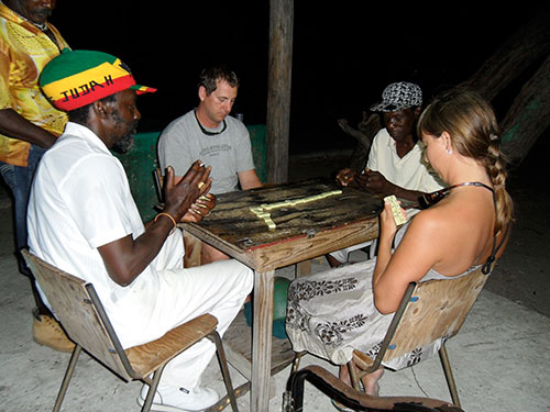 Dominoes with the locals