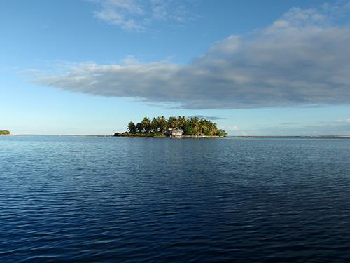 Island on Manihi Atoll