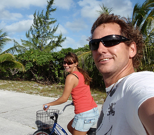 Jason and Lara go biking