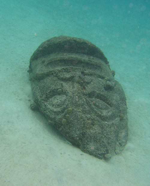 Underwater tiki in Moorea