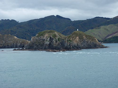 Entering the Marlborough Sounds