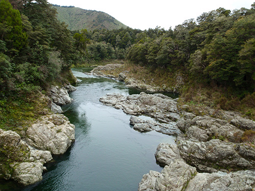 River crossing on the way to Nelson