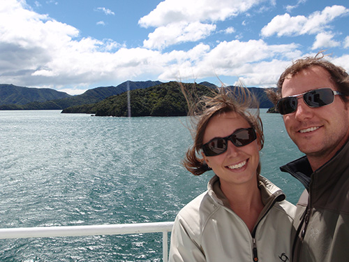 Ferrying out through the Marlborough Sounds