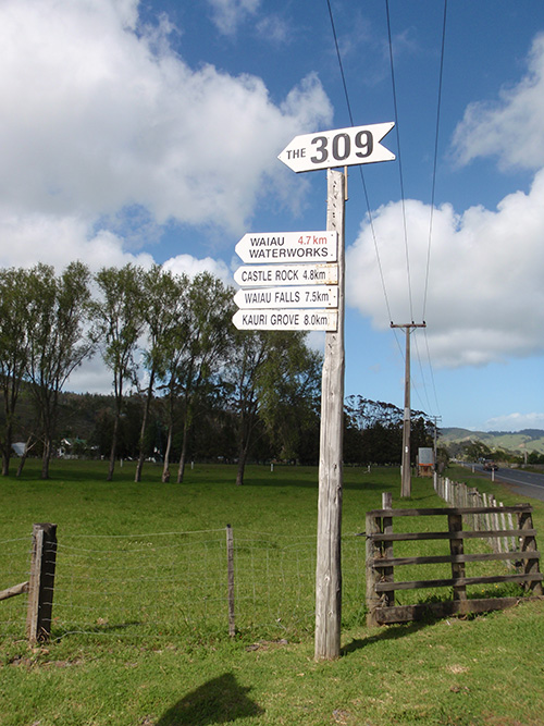 The 309 Road turnoff