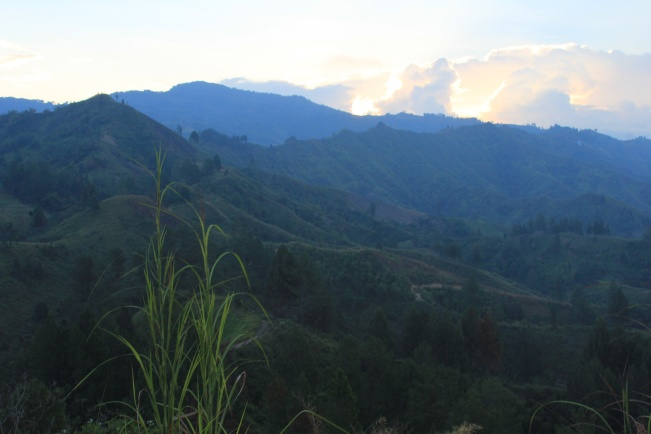 View from a hilltop in Kerinci Valley, Sumatra
